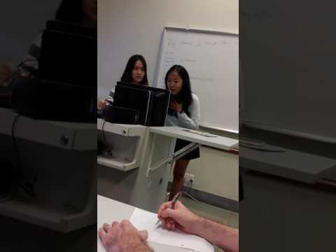 Student 1 presentations Professor Sean Watts RMIT Vietnam 20151118 102142