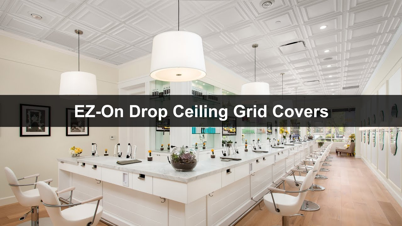 Ez On Drop Ceiling Grid Covers By Ceilume Youtube