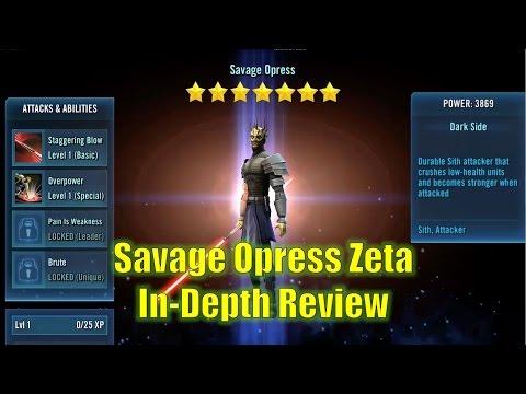 Star Wars Galaxy of Heroes: Savage Opress Zeta In-Depth Review