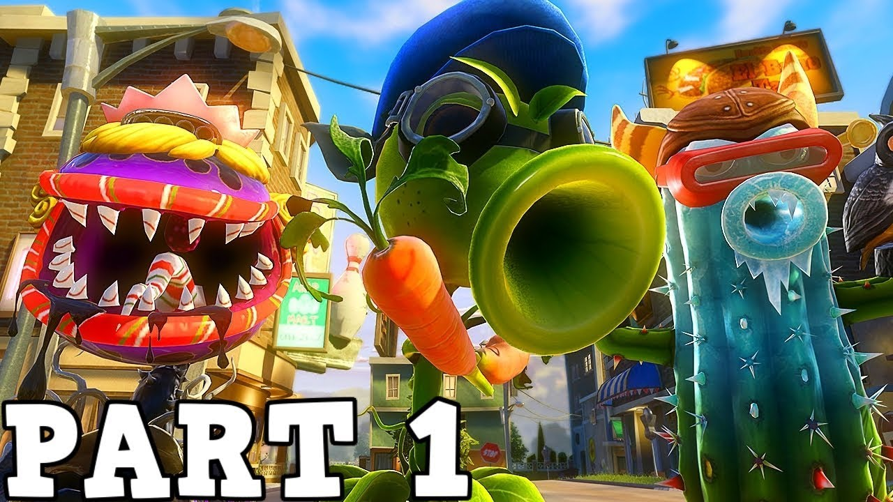 PLANTS VS ZOMBIES GARDEN WARFARE Gameplay Walkthrough ...