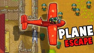 Crafting an AIRPLANE!?  Epic Prison Break w Blitz! (The Escapists 2 Multiplayer Gameplay KAPOW Camp)