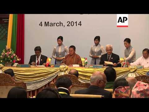 Meeting of BIMSTEC nations - Bangladesh, Bhutan, India, Nepal, Sri Lanka, Thailand and Myanmar
