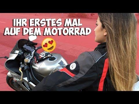 Ihr ERSTES MAL auf dem Motorrad !