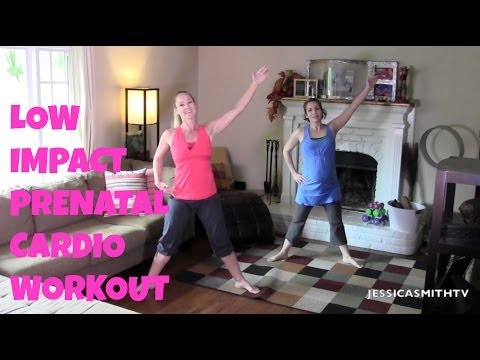 Prenatal Low Impact Cardio Workout [ Exercise During Pregnancy][Prenatal Cardio Workout]