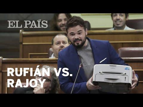 """Rufián a Rajoy: """"No hay ley por encima de la democracia""""   España"""