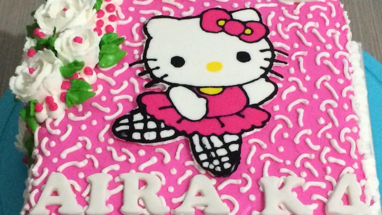 Cute Hello Kitty Cake Buttercream Transfer YouTube
