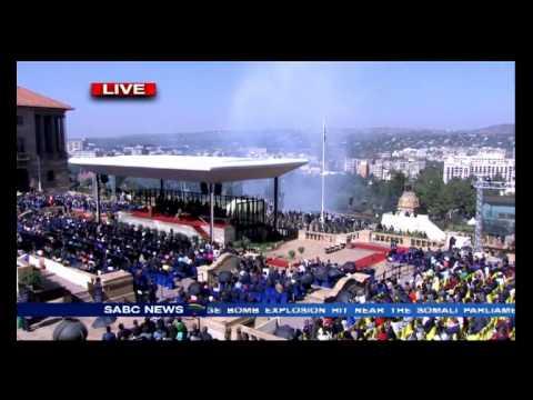 President Zuma taking oath of office