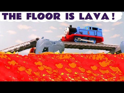 The Floor Is Lava Challenge Thomas & Friends and Minions Toy Trains Story with Batman for Kids  TT4U