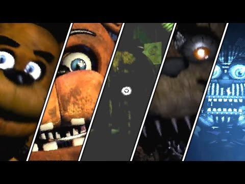 Five Nights At Freddy's 1 2 3 4 Sister Location All Jumpscares | FNAF Series