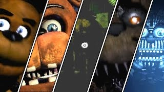 five nights at freddy s 1 2 3 4 sister location all jumpscares   fnaf series