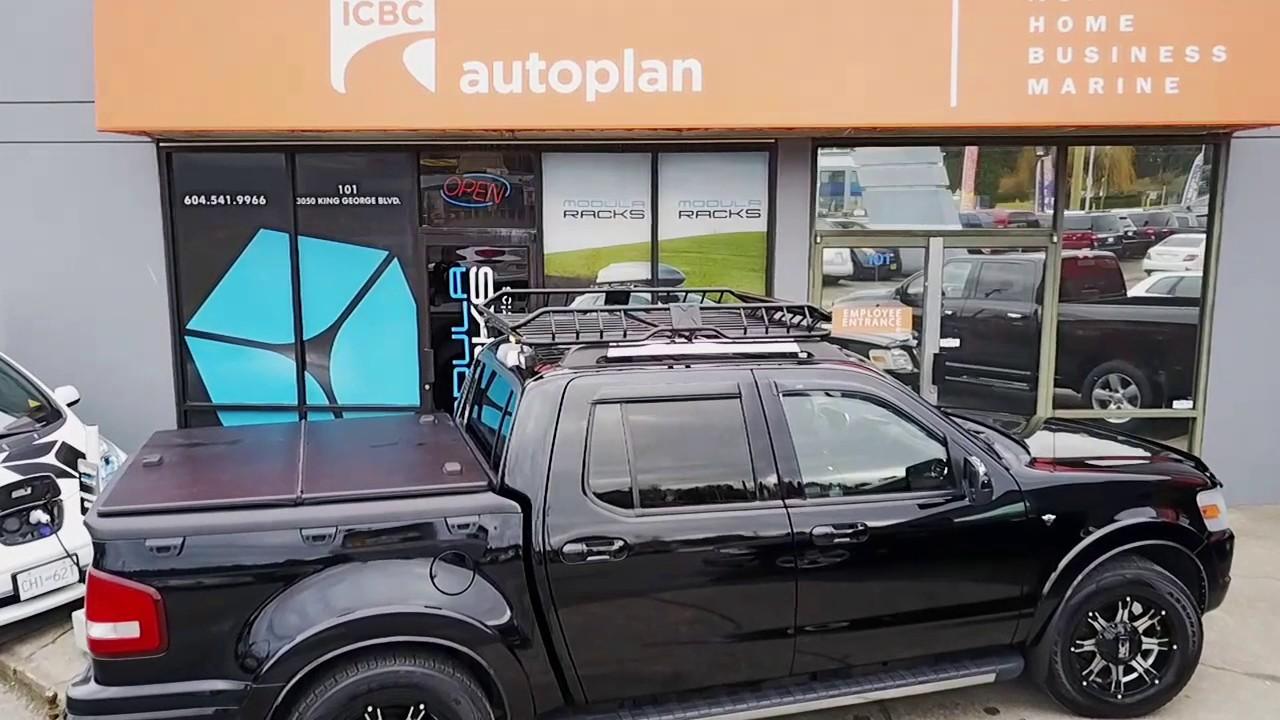 Rhino Rack X Tray Ford Sport Trac Youtube