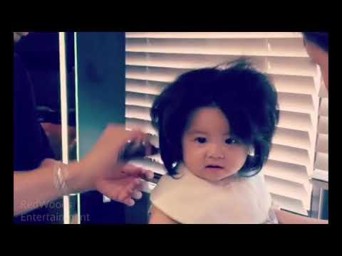 Cute babie with beautiful hair... Baby chanco