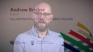 Andrew Bricker, 2016 UBC Killam Postdoctoral Research Fellow