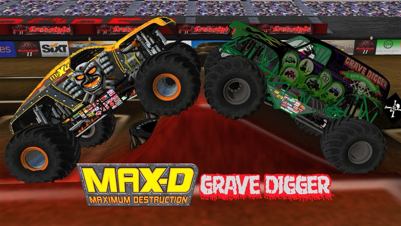 Team Meents Vs Team Grave Digger 16 Truck World Finals Freestyle Monster Jam Rigs Of Rods Youtube