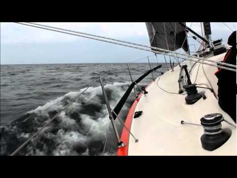 IMX 40 - sailing on a breezy weekend in Denmark