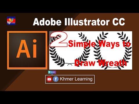 Adobe Illustrator Tutorial: 2 Simple Ways to Draw Wreath / Laurel thumbnail