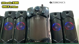 Zebronics INDIE 4 1 RUCF REVIEW SOUND TEST 105wattsRMS BEST HOME THEATER UNDER 6000rs
