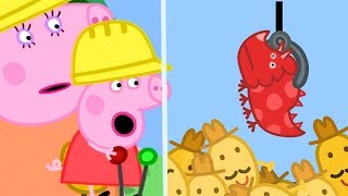 Peppa Pig English Episodes | Peppa Pig's Fun Time At Digger World | Peppa Pig Official