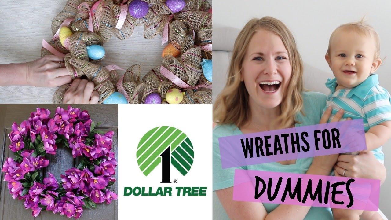 How To Make Dollar Tree DIY Wreaths Easiest Tutorial