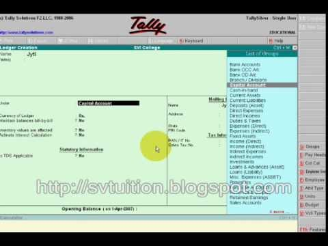 Steps For Automatic Calculation Of Interest In Tally 9 Youtube