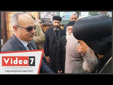 بالفيديو..محافظ بورسعيد يترأس وفدا لتقديم التهنئة للأنبا تادرس بالكنيسة الكاتدرائية
