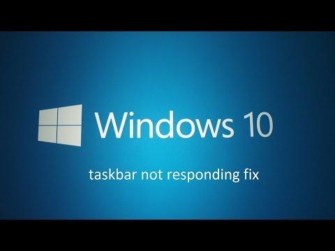 Windows 10 taskbar not responding fix
