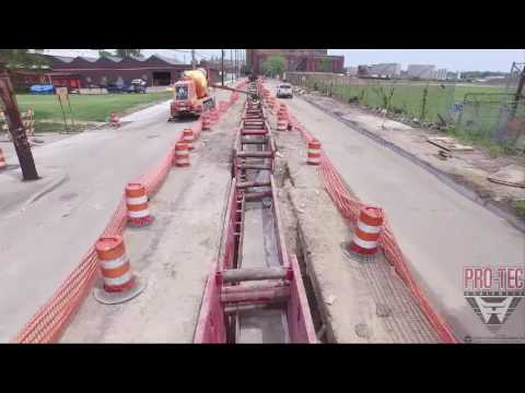 20 Trench Shields Gordie Howe Bridge Duct Bank project