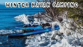 Winter Kayak Camping on an Island