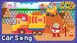 Excavator And Dump Truck | Car Song | SuperWings Songs for kids