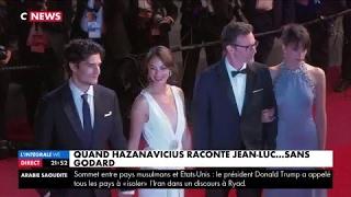 Festival de Cannes : Montée des marches pour Michel Hazanavicius et ''Le Redoutable''