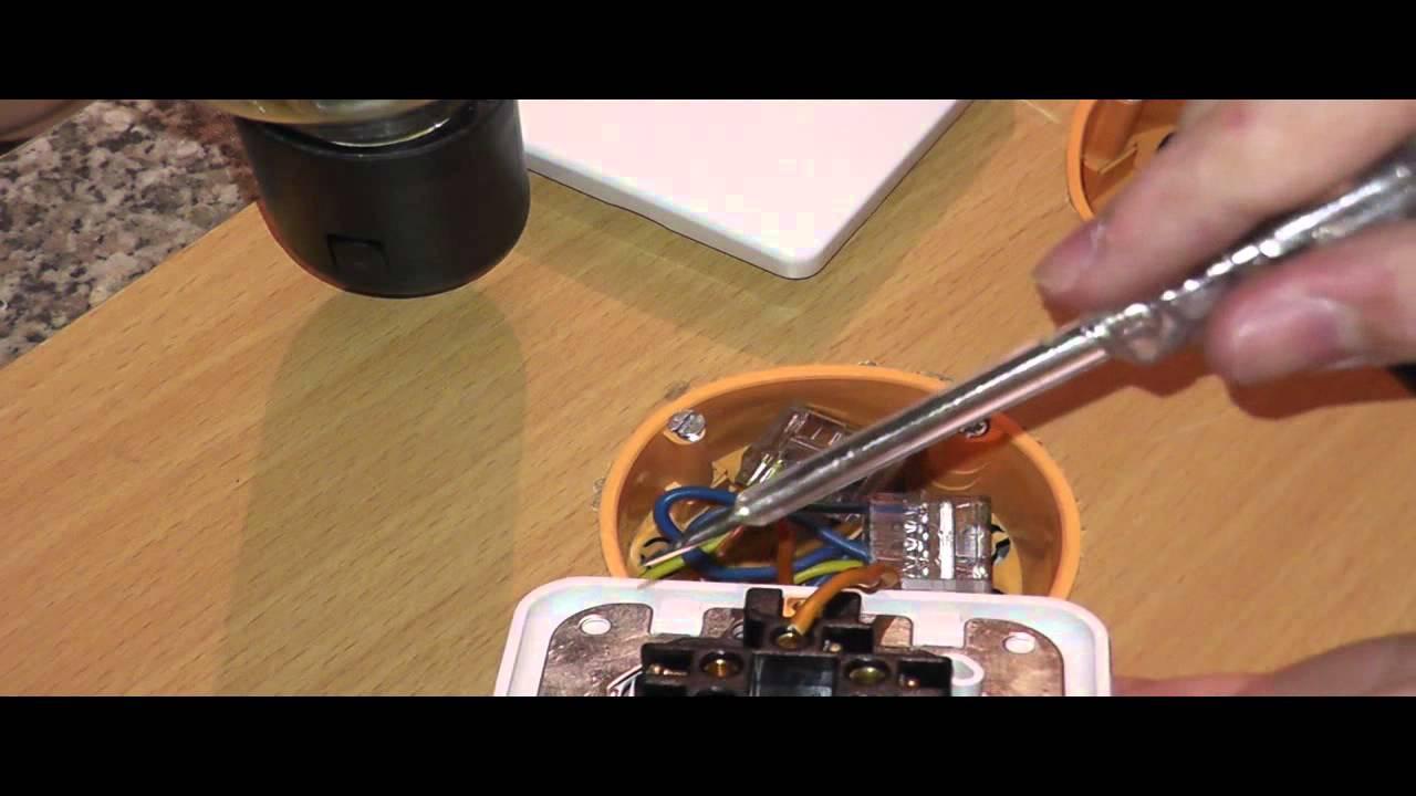 Elektroinstallation Teil 4 Einen Schalter Anschließen - YouTube