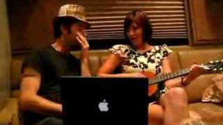Tristan Prettyman and G. Love on the bus. By Scott Melker