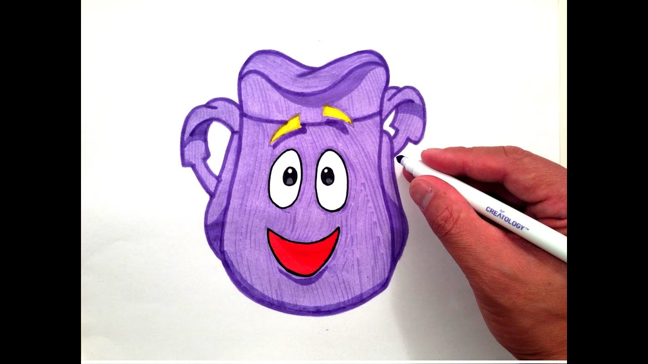 How to Draw Dora the Explorer's Backpack - YouTube