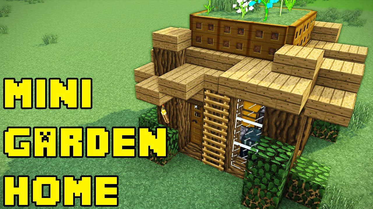 minecraft garden house tutorial how to build youtube. Black Bedroom Furniture Sets. Home Design Ideas