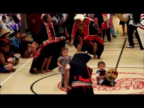 Haida Dance Group  Kunn 7lanaas/janaas, performing  Raven Clan Dance