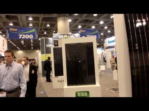 Walking on Solar panels embeded inside Tiles at  Intersolar 2013