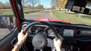 2020 Jeep Gladiator Overland 4x4 - POV Test Drive (Binaural Audio)