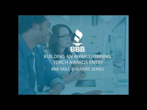 BBB Skill Builders Series:  Building an Award-Winning Torch Awards Entry