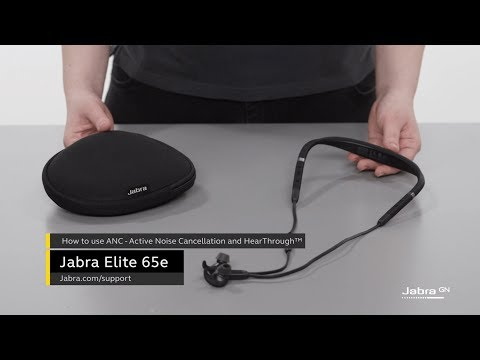 How To Use Active Noise Cancellation Anc And Hearthrough Jabra Elite 65e Youtube