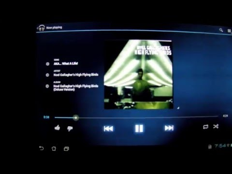 Music Player - Android ICS Asus Transformer Prime TF201