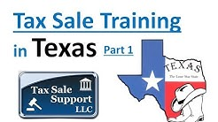 Texas Tax Sale Investing Tutorial (Part 1) Tax Deeds!