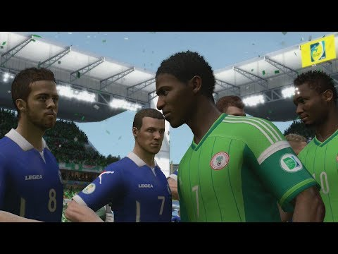 FIFA World Cup 2014: Nigeria vs Bosnia-Herzegovina Simulation (EA FIFA World Cup 2014 Brazil)
