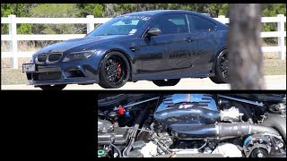 650hp supercharged vf engineering bmw e92 m3   gintani race exhaust