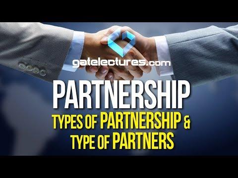 Partnership - Types of Partnership and Type of Partners (Hindi)