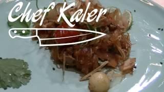 Тайский завтрак :  Рисовая лапша с грибами и овощами