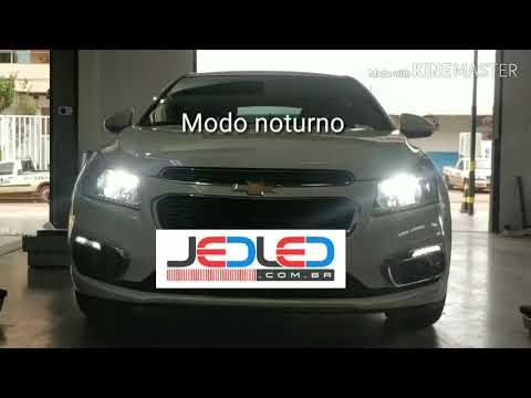 Farol Fullled Super Led Drl Chevrolet Cruze Luz Diurna Jedled
