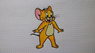 Tom and Jerry/Как нарисовать МЫШОНКА ДЖЕРИ #106 / How to draw JERRY the MOUSE/