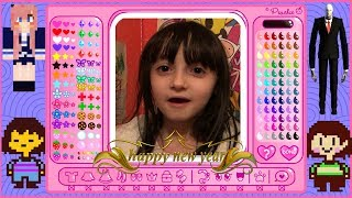 HAPPY NEW YEAR!!!! - Skyla plays: Dress Up Coloring Workshop!