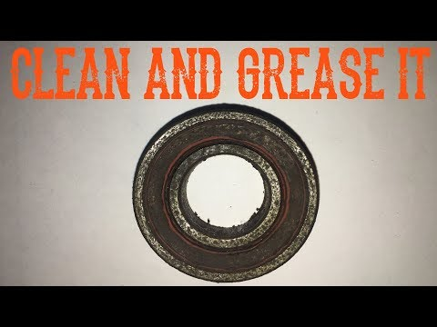 How To Un-Seize, Clean And Grease A Sealed Bearing - Video