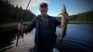Рыбалка в Карелии Подъем по речке до заболоченного озера